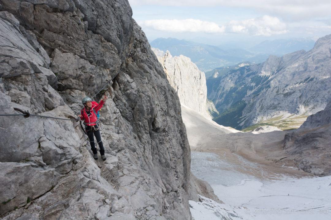 Klettersteig Zugspitze Höllental : Hoellental klettersteig zugspitze von garmisch zur